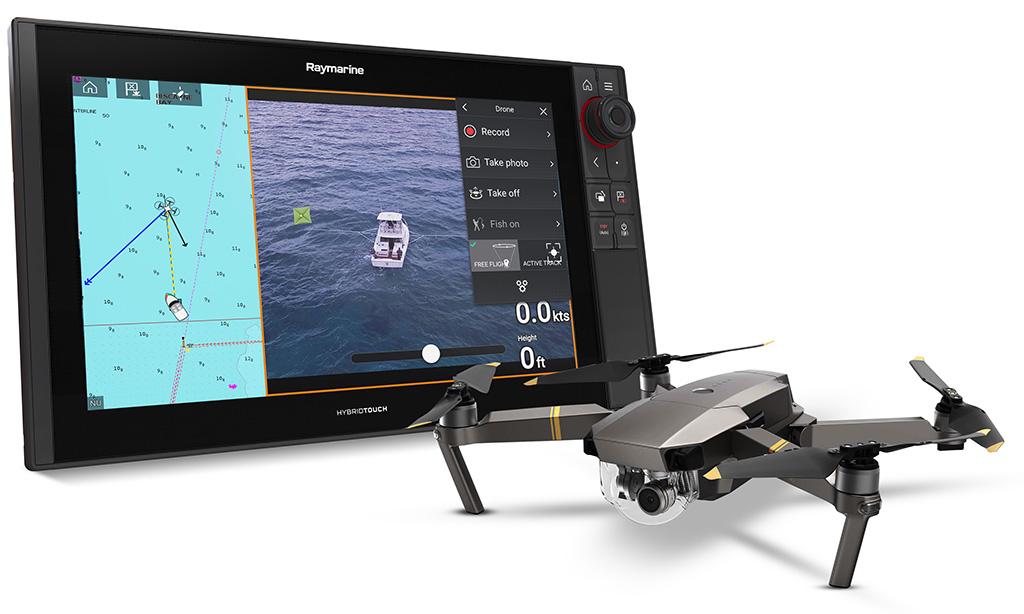 Интеграция Raymarine Axiom и беспилотных летательных аппаратов