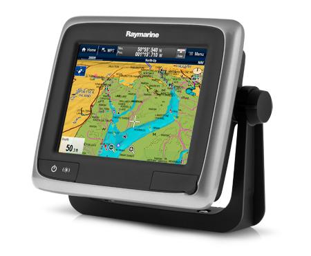 Многофункциональный дисплей Raymarine a65 в режиме картплоттера