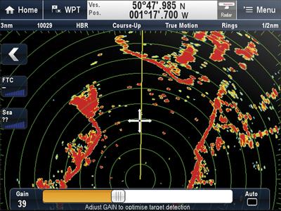 Raymarine a Series режим Радар