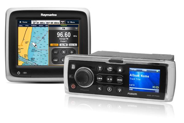 Многофункциональный дисплей Raymarine a65 Управление Аудио