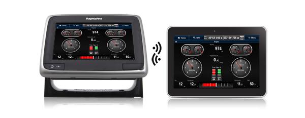 Многофункциональные дисплеи Raymarine a Series со встроенным модулем Wi-Fi