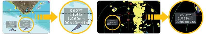 AIS Raymarine: Отображение Информации о Целях АИС на Многофункциональных Дисплеях Raymarine