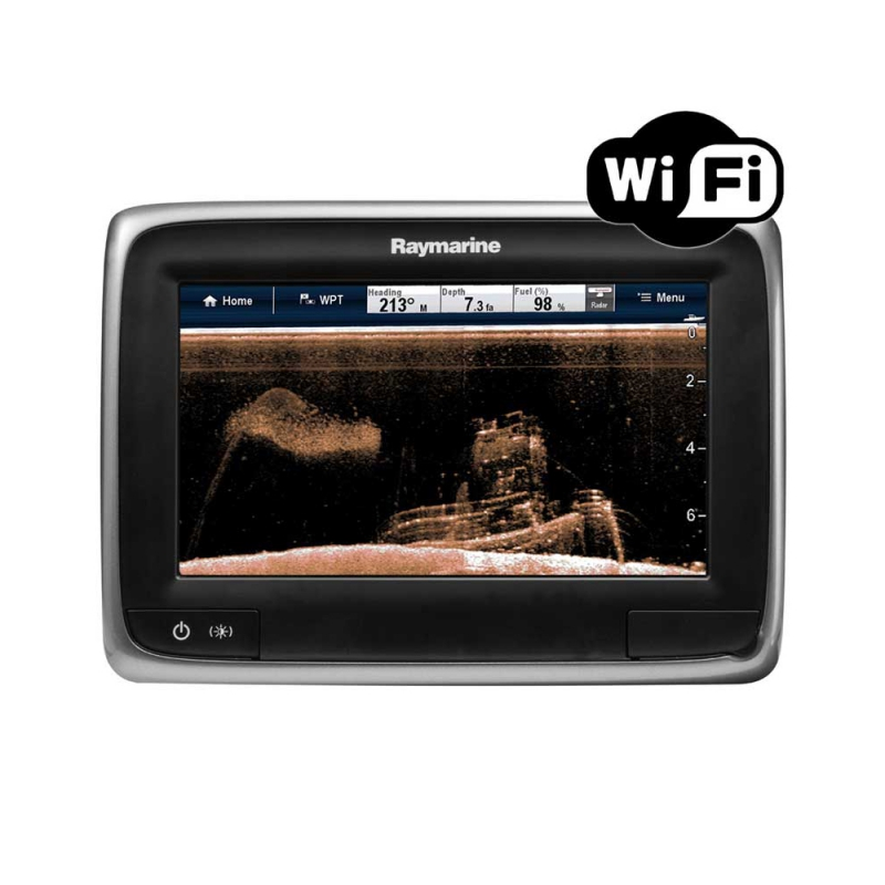 "a78 7"" Multifunctional Display with Built-in DownVision Fishfinder and Wi-Fi, No Transducer, No chart