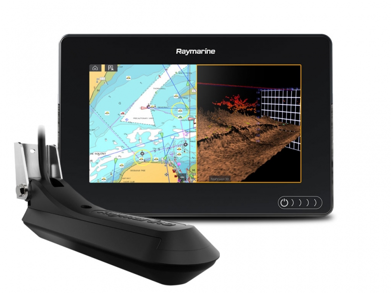 "AXIOM 7 RV, Multi-function 7"" Display with RealVision 3D, 600W Sonar with RV-100 transducer