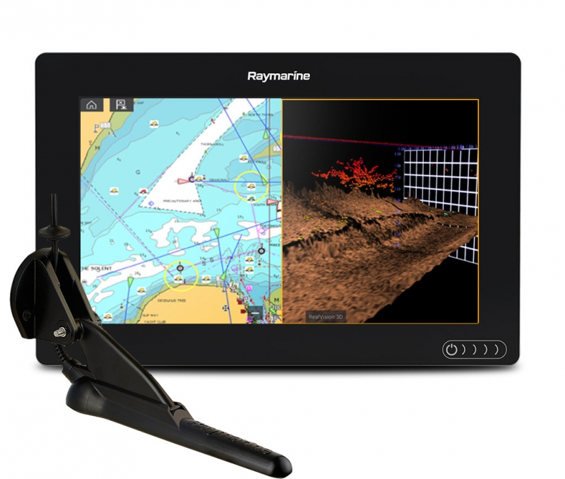 "AXIOM 9 RV, Multi-function 9"" Display with integrated RealVision 3D, 600W Sonar with CPT-100DVS transducer
