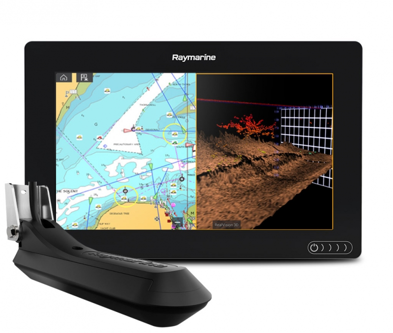 "AXIOM 9 RV, Multi-function 9"" Display with integrated RealVision 3D, 600W Sonar with RV-100 transducer